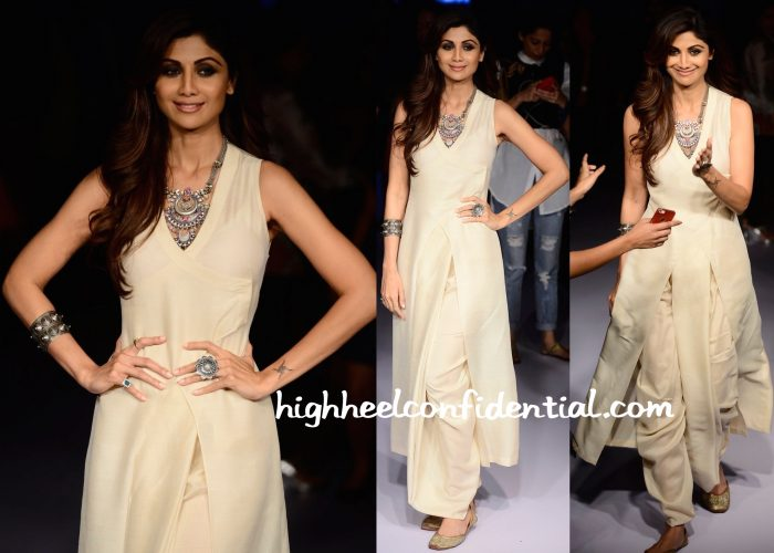 Shilpa Shetty In Neeta Lulla At The Designer's Show At Lakme Fashion Week Winter:Festive 2015-2