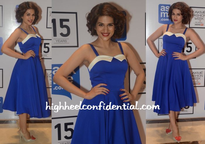 Shraddha Das In Madison And Vivienne Westwood At Lakme Fashion Week Winter:Festive 2015