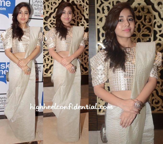 Shweta Tripathi In Payal Singhal And Amrapali At Lakme Fashion Week Winter:Festive 2015