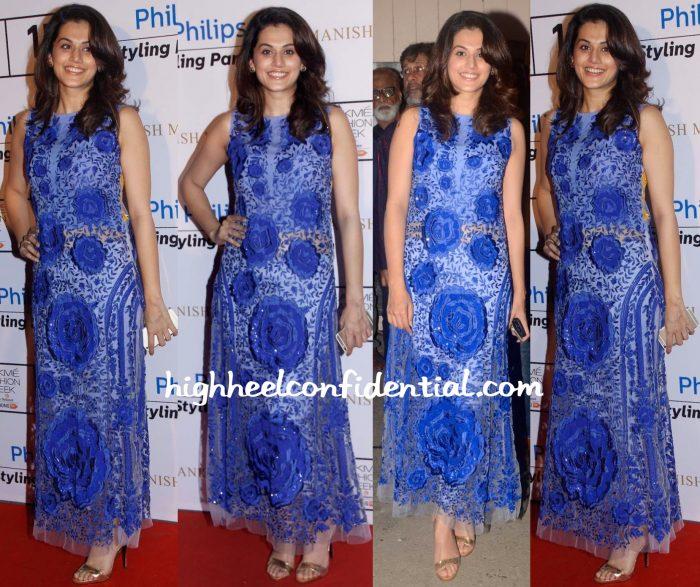 Taapsee Pannu At Manish Malhotra Show At Lakme Fashion Week Winter Festive 2015