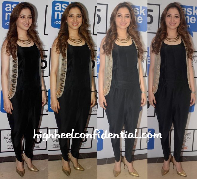 Tamannaah Bhatia In Payal Singhal At Lakme Fashion Week Winter:Festive 2015-1