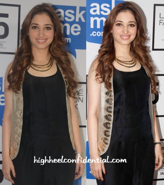 Tamannaah Bhatia In Payal Singhal At Lakme Fashion Week Winter:Festive 2015-2