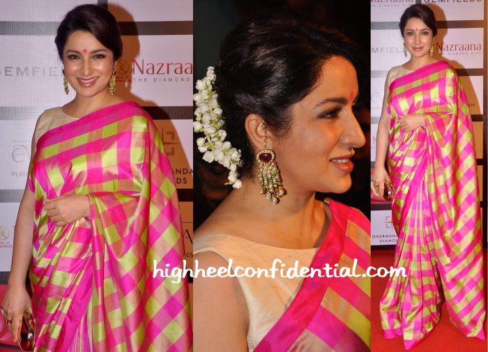 Tisca Chopra In Raw Mango At Retail Jeweller India Awards 2015-2