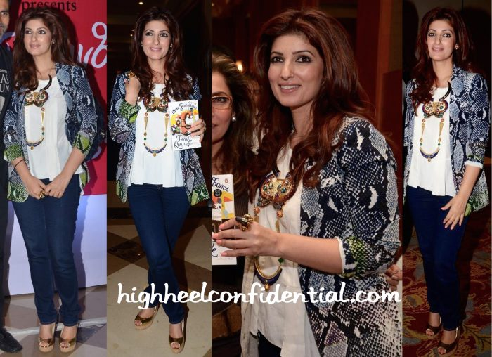Twinkle Khanna Wears DvF And Manish Arora X Amrapali To Her Book Launch-2