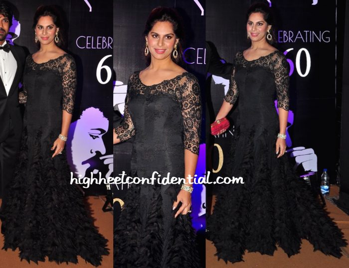 Upasana Kamineni In Tarun Tahiliani At Chiranjeevi's 60th Birthday Celebrations-1