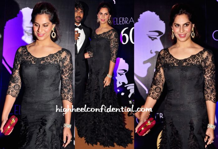 Upasana Kamineni In Tarun Tahiliani At Chiranjeevi's 60th Birthday Celebrations-2