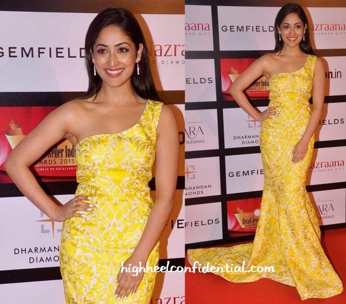 Yami Gautam In Mayyurr Girotra At Retail Jeweller India Awards 2015-1