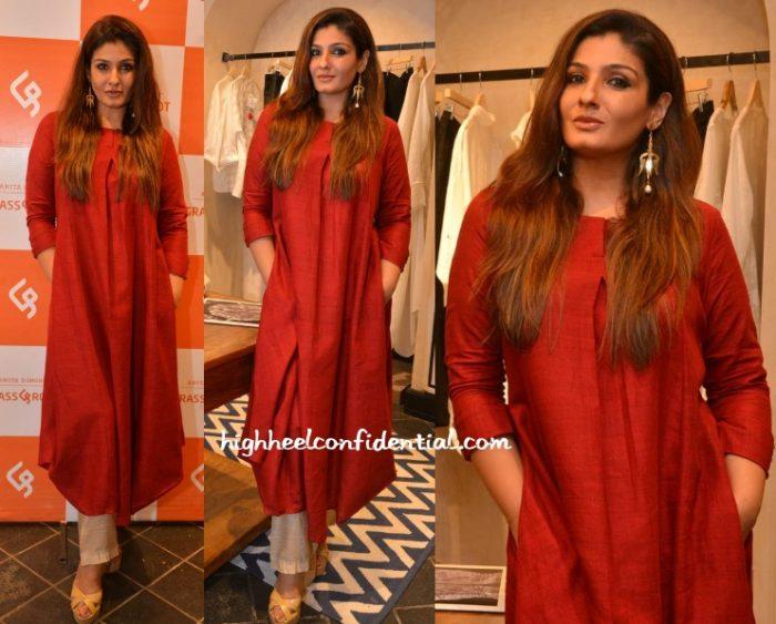 raveena-tandon-grassroot-anita-dongre-store-launch