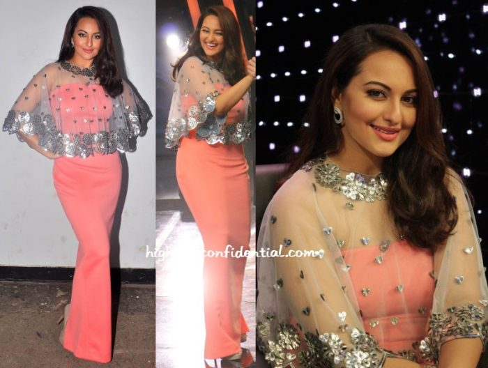 sonakshi-sinha-urvashi-joneja-indian-idol-sets