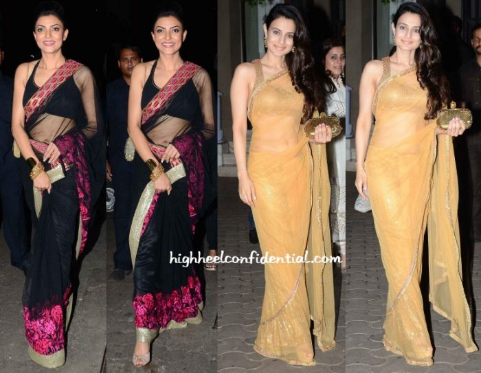 sushmita-sen-amisha-patel-queenie-wedding-bash