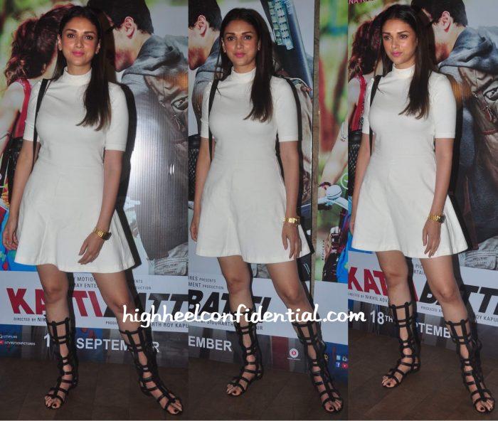 Aditi Rao Hydari In H&M At Katti Batti Screening