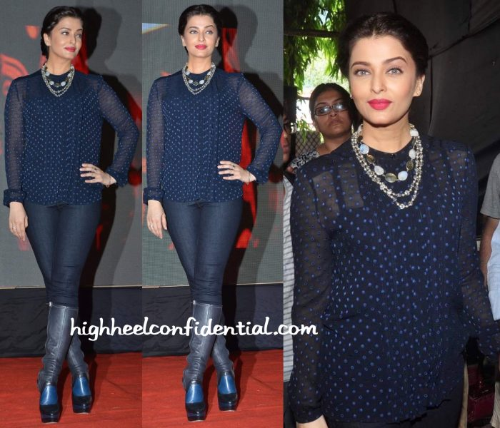 Aishwarya Rai Bachchan In Burberry And J Brand At Jazbaa Promotions-1