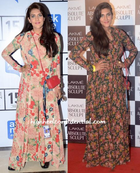 Ambika Anand Wears Sabyasachi To Lakme Fashion Week A:W 2015 Shows