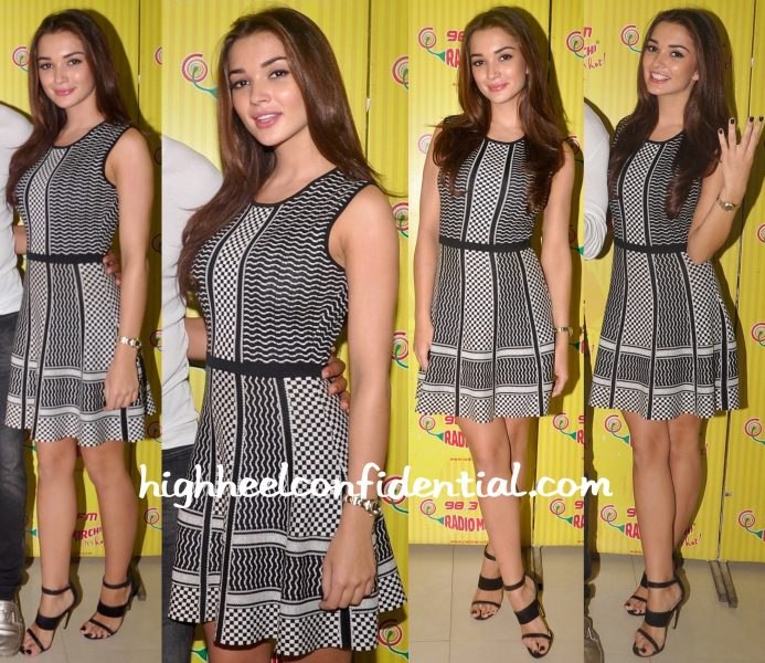 Amy Jackson In BCBGMaxazria And River Island At Singh Is Bliing Promotions