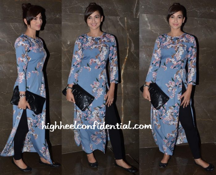 Gauahar Khan Wears Missa More To Intern Screening