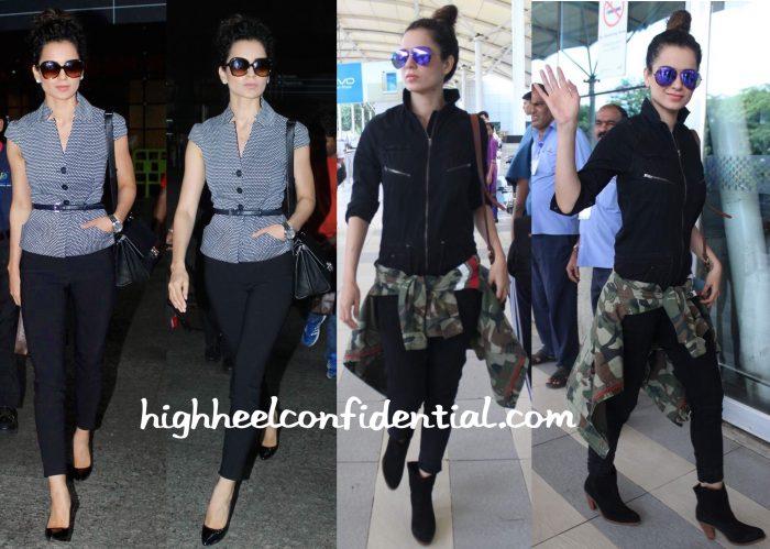 Kangana Ranaut Pgotographed At The Airport In Vero Moda, Dior And Stella McCartney-1