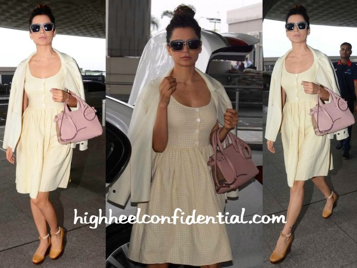 Kangana Ranaut Photographed In Prada And Burberry At The Mumbai Airport-2