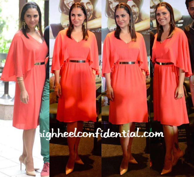 Lara Dutta In BCBGMaxazria At Singh Is Bliing Press Meet In Delhi-1
