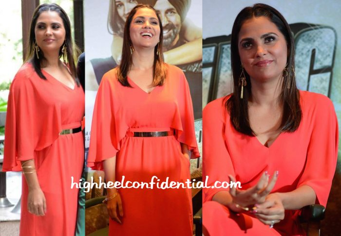 Lara Dutta In BCBGMaxazria At Singh Is Bliing Press Meet In Delhi-2
