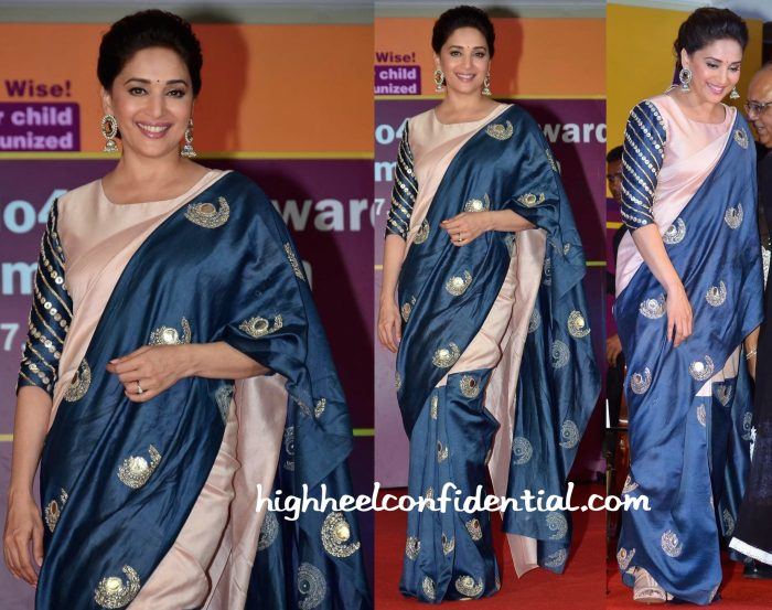 Madhuri Dixit In Payal Singhal At Unicef India Radio4child Awards-2