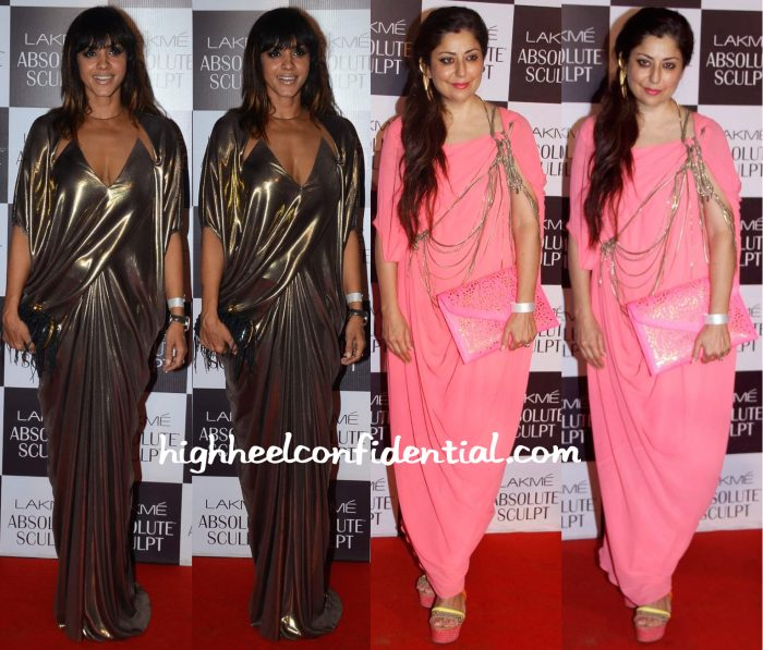 Manasi Scott And Sabina Singh In Gaurav Gupta At The Designer's Show At Lakme Fashion Week Winter:Festive 2015