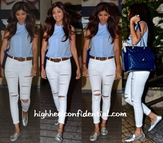 Shilpa Shetty Photographed At PVR