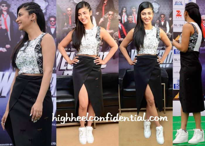 Shruti Haasan In Vidhi Wadhwani For Welcome Back Promotions-1