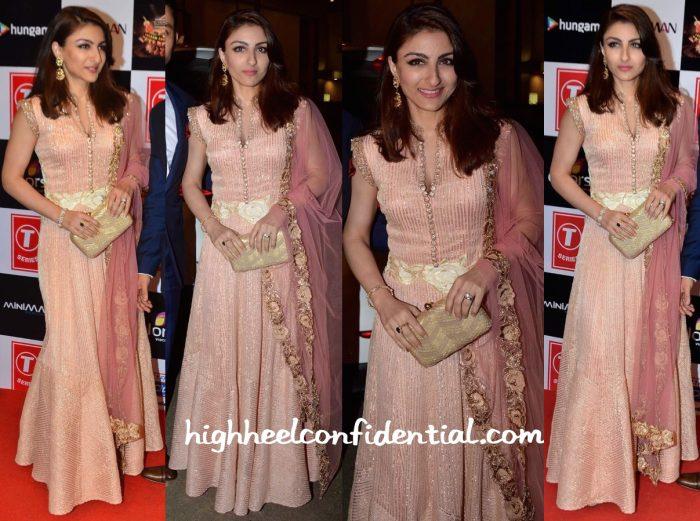Soha Ali Khan In Manish Malhotra At Gulshan Kumar Tribute
