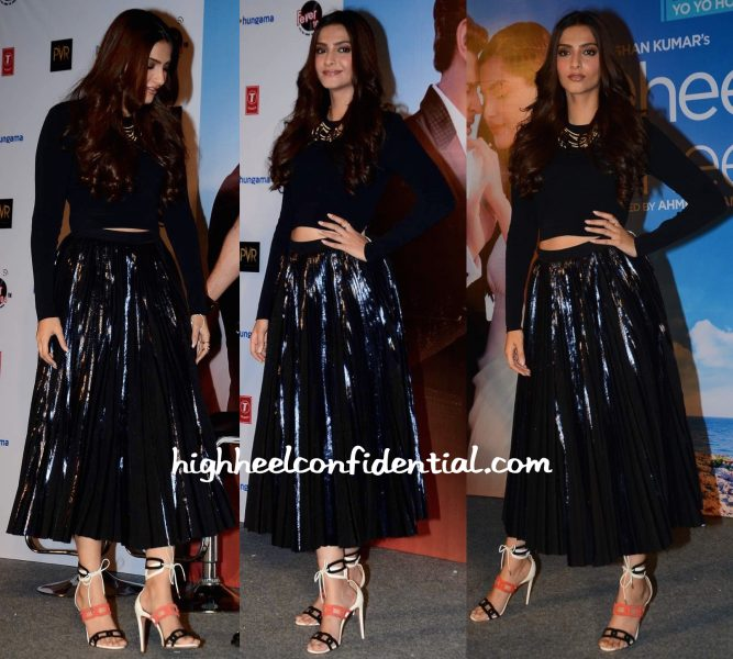 Sonam Kapoor In Proenza Schouler And Aquazzura At Dheere Dheere Song Launch-2