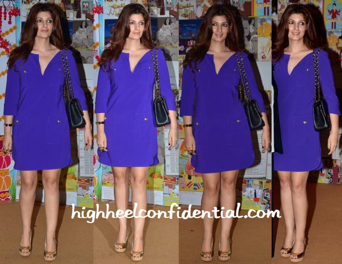 Twinkle Khanna In DvF At Sakshi Salve Book The Big Indian Wedding Launch-1