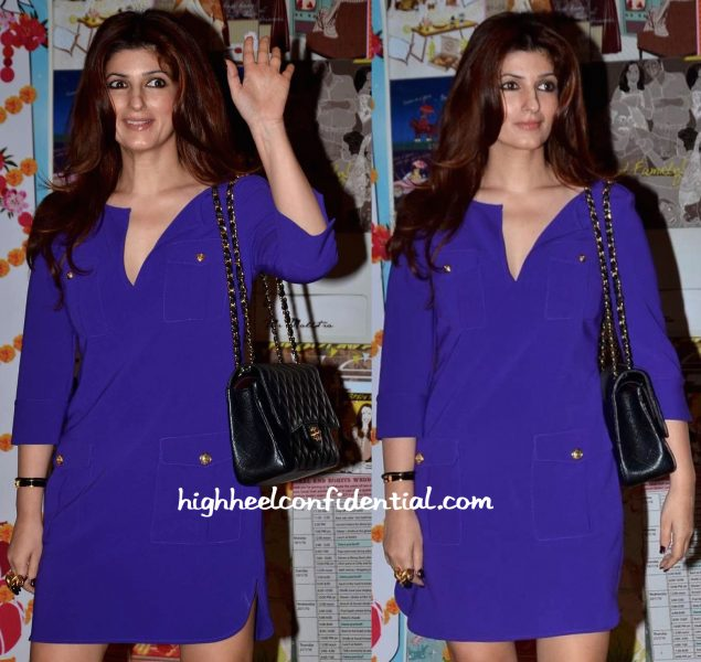 Twinkle Khanna In DvF At Sakshi Salve Book The Big Indian Wedding Launch-2