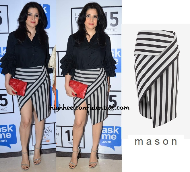 maheep-kapoor-mason-michelle-skirt-striped-lakme-fashion-week-2015