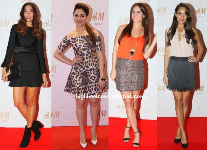 monica-tamannaah-lauren-lisa-hm-opening-india