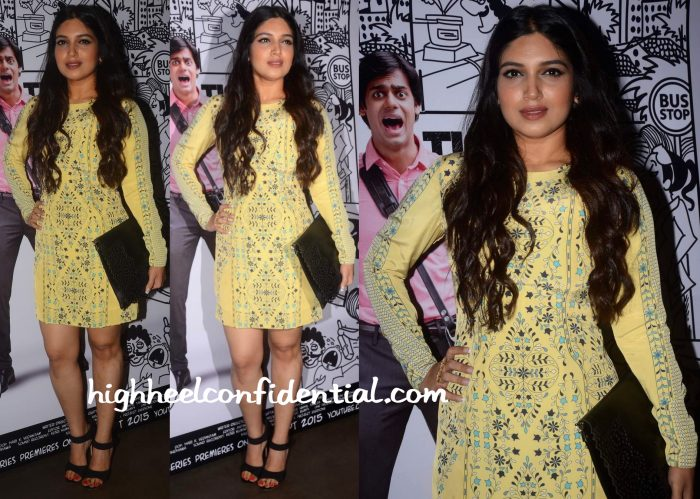 Bhumi Pednekar In AM-PM By Ankur And Priyanka Modi At Jagran Film Festival 2015