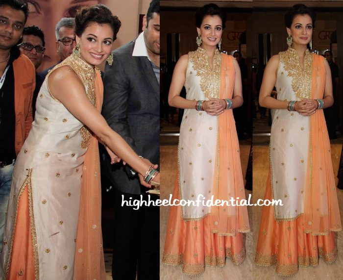 Dia Mirza In Tamanna Punjabi Kapoor At A Jewelry Exhibition