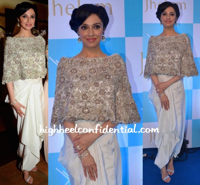 Divya Khosla Kumar In Anamika Khanna At Jhelum Store Launch-2