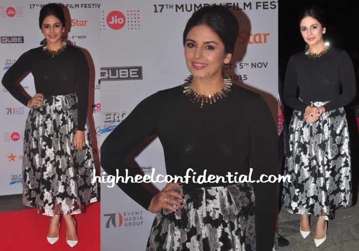 Huma Qureshi In Sapphire At MAMI 2015 Film Festival Opening Night-1