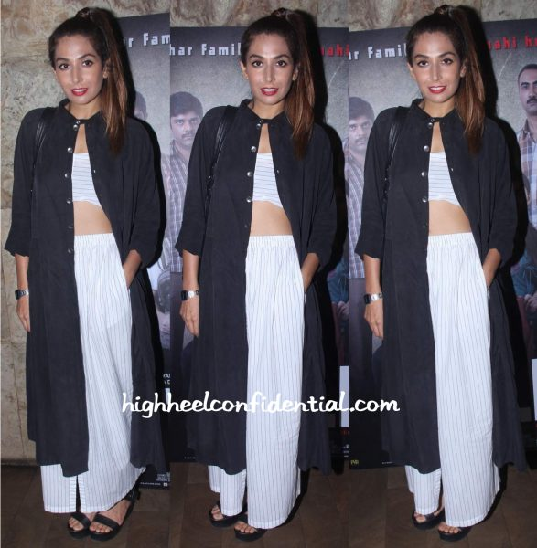 Monica Dogra Wears Three To Titli Screening
