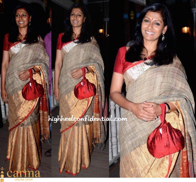 Nandita Das In Anavila At Maithili Rao Book Smita Patil A Brief Incandescence Launch