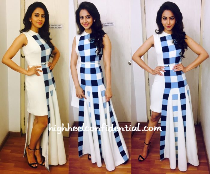 Rakul Preet Singh Wears Urvashi Joneja To Boom Boom Sets-1