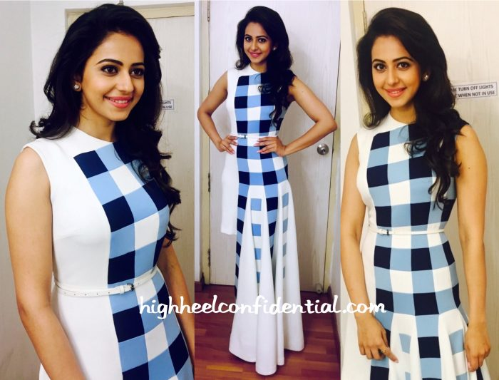 Rakul Preet Singh Wears Urvashi Joneja To Boom Boom Sets-2