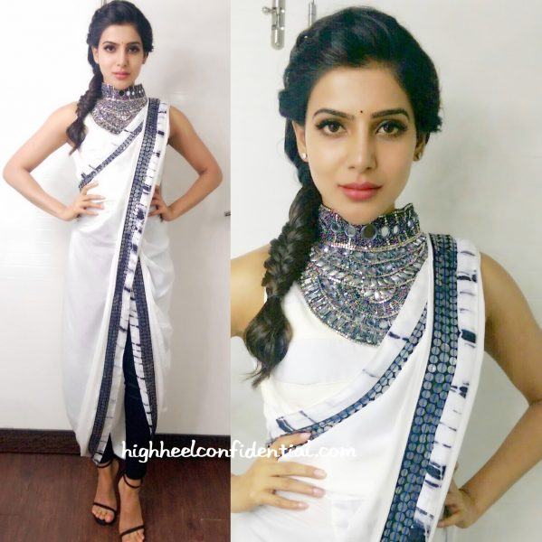 Samantha Ruth Prabhu Wears Roshni Chopra Design To Koffee With DD Sets