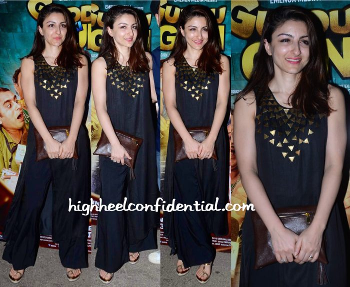 Soha Ali Khan In EnEch By Nupur Harwani At Guddu Ki Gun Screening