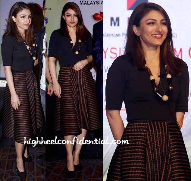 Soha Ali Khan In H&M At Malaysian Palm Oil Event-1