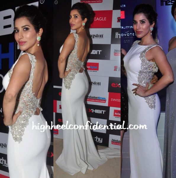Sophie Choudry Wears Sonaakshi Raaj And Farah Khan Ali Fine Jewelry To Exhibit Tech Awards 2015-2