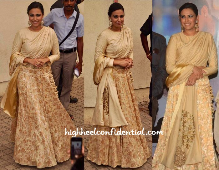 Swara Bhaskar In SVA By Sonam And Paras Modi At Prem Ratan Dhan Payo Trailer Launch-2