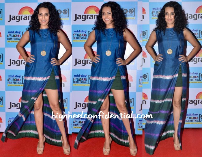 Swara Bhaskar In Shruti Sancheti At Jagran Film Festival 2015-1