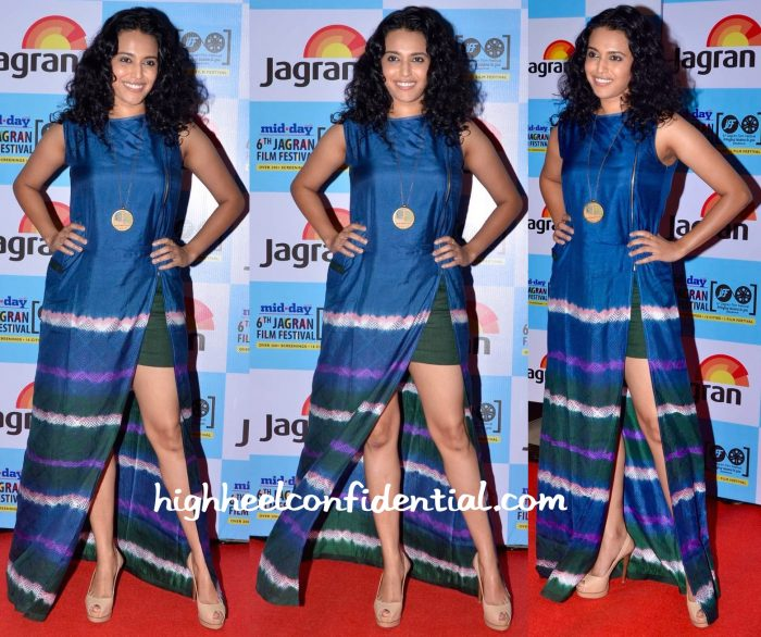 Swara Bhaskar In Shruti Sancheti At Jagran Film Festival 2015-2
