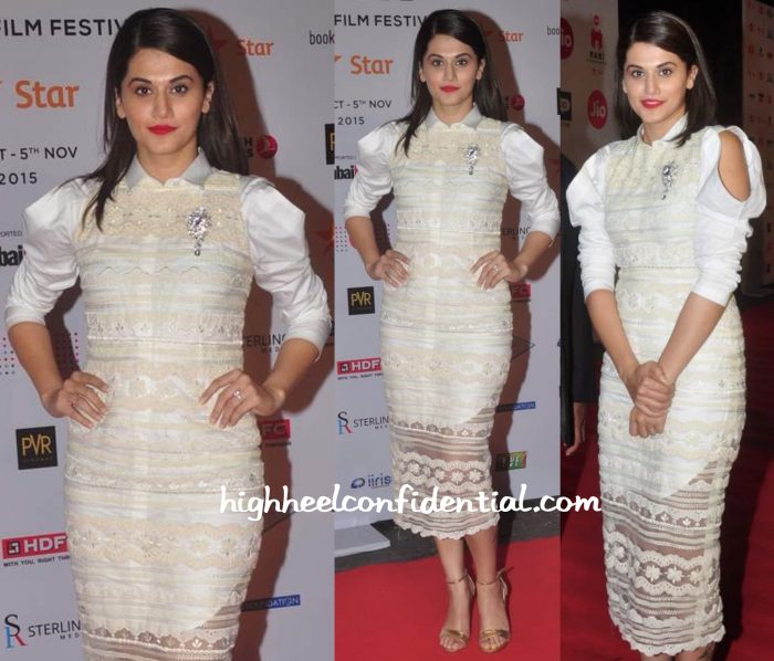 Taapsee Pannu In Archana Rao Label At MAMI 2015 Opening Night