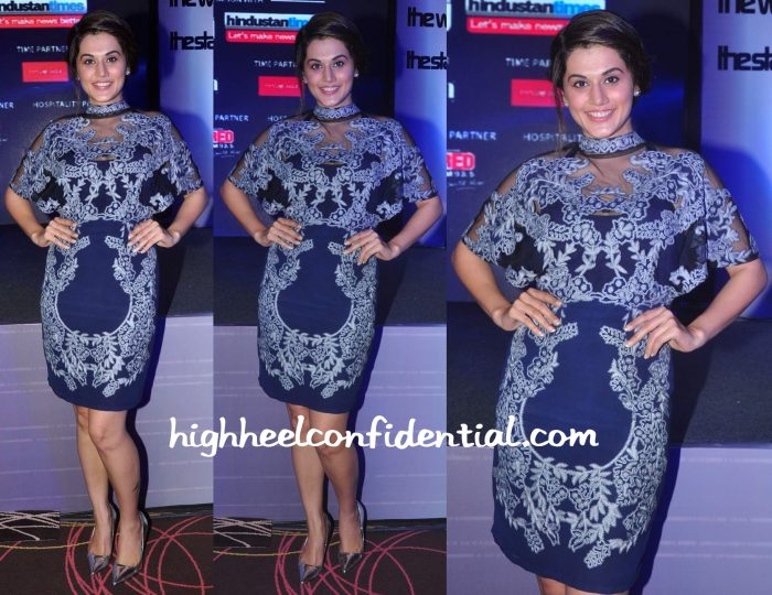 Taapsee Pannu In Geisha Designs At Exhibit Tech Awards 2015